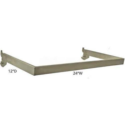 "Azar Displays 300956 12"" Deep U-Shaped Hang Rail, 24"" Wide, Metal ,1 Piece"