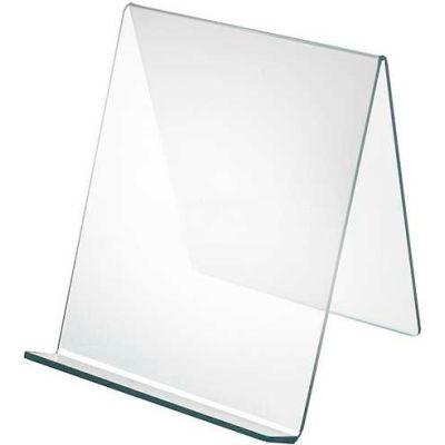 "Azar Displays 515450 Acrylic Easel W/ 1.75"" Lip, 9"" x 10.5"", Acrylic"