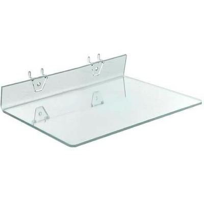 """Azar Displays 556018 Acrylic Shelf For Pegboard/Slatwall, 13.5"""" x 2"""", Clear"""