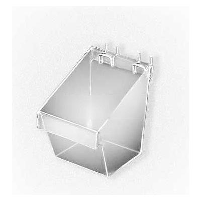 "Azar Displays 556117 Small Display Bucket For Pegboard/Slatwall, 5"" x 7"", Clear"