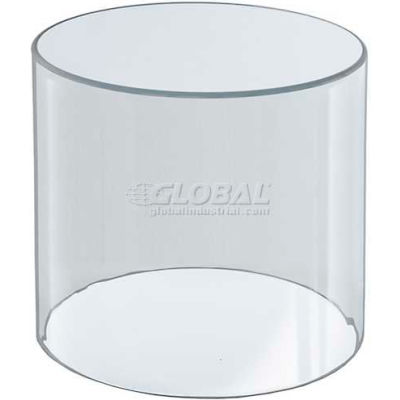 "Azar Displays 556605 Acrylic Cylinder, 6"" x 6"", Clear ,1 Piece"