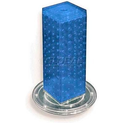 "Azar Displays 700220-BLU 12"" Pegboard Revolving Countertop Display, 4-Sided, Blue ,1 Piece"