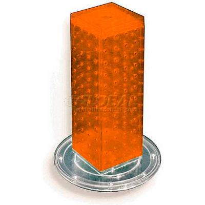 "Azar Displays 700220-ORG 12"" Pegboard Revolving Countertop Display, 4-Sided, Orange ,1 Piece"