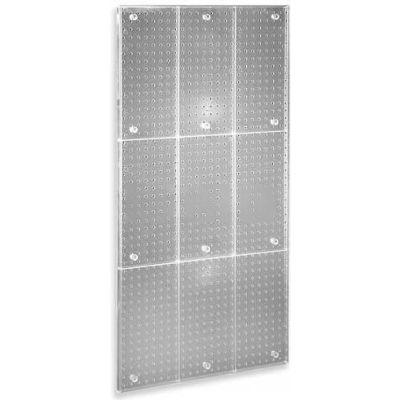 "Azar Displays 700248-CLR Pegboard Wall Panel, 24"" x 48"", Clear ,1 Piece"