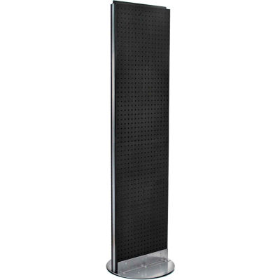 "Azar Displays 700250-BLK, Pegboard Floor Stand, 16""W x 60""H, BK, 1 Pc"