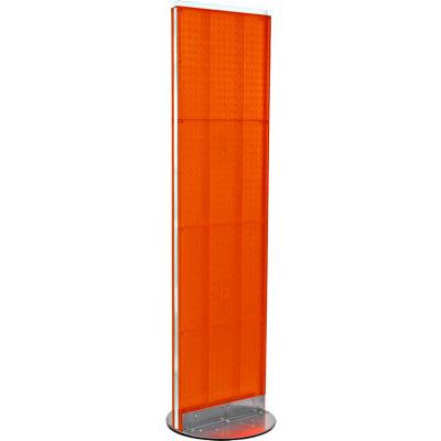 "Azar Displays 700250-ORG, Pegboard Floor Stand, 16""W x 60""H, RG, 1 Pc"