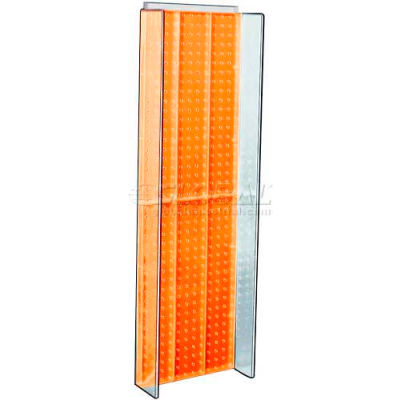 "Azar Displays 700350-ORG Pegboard Powering, 13.75"" x 44"", Orange ,1 Piece"