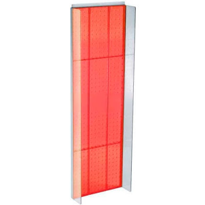 """Azar Displays 700350-RED Pegboard Powering, 13.75"""" x 44"""", Red Opaque ,1 Piece"""