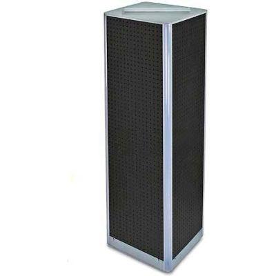 "Azar Displays 700405-BLK Four-Sided Pegboard Spinning Floor Display, 16"" x 60"", Black ,1 Piece"