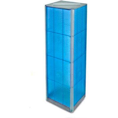 "Azar Displays 700405-BLU Four-Sided Pegboard Spinning Floor Display, 16"" x 60"", Blue ,1 Piece"