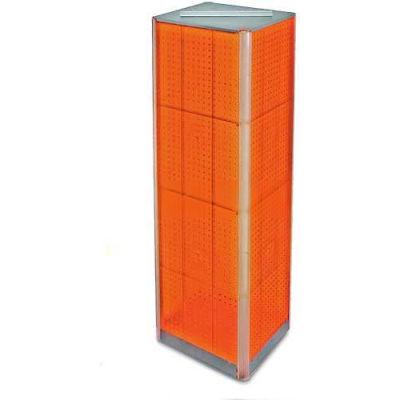 "Azar Displays 700405-ORG Four-Sided Pegboard Spinning Floor Display, 16"" x 60"", Orange ,1 Piece"