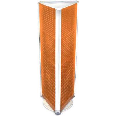 """Azar Displays 700450-ORG Three-Sided Spinning Pegboard Floor Display, 16"""" x 60"""", Orange Opaque"""