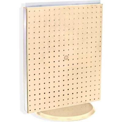 "Azar Displays 700500-ALM Pegboard Countertop Display, 16"" x 20"", Almond Solid ,1 Piece"