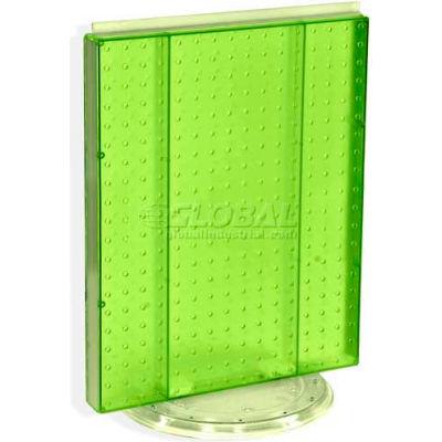 "Azar Displays 700500-GRE Pegboard Countertop Display, 16"" x 20"", Green Opaque ,1 Piece"
