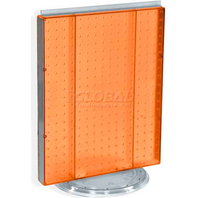 "Azar Displays 700500-ORG Pegboard Countertop Display, 16"" x 20"", Orange Opaque ,1 Piece"