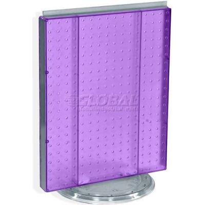 "Azar Displays 700500-PUR Pegboard Countertop Display, 16"" x 20"", Purple Opaque ,1 Piece"