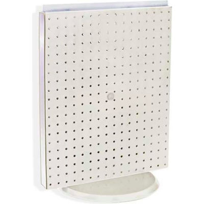 """Azar Displays 700500-WHT Pegboard Countertop Display, 16"""" x 20"""", White Solid ,1 Piece"""