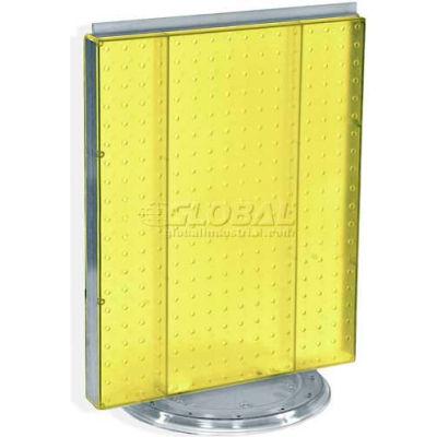 "Azar Displays 700500-YEL Pegboard Countertop Display, 16"" x 20"", Yellow Opaque ,1 Piece"