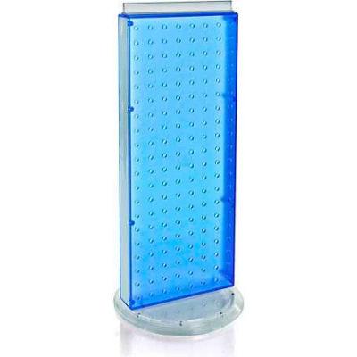 "Azar Displays 700508-BLU Revolving Pegboard Countertop Display Unit, 8"" x 20"", Blue ,1 Piece"