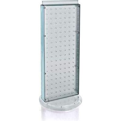 "Azar Displays 700508-CLR Revolving Pegboard Countertop Display Unit, 8"" x 20"", Clear ,1 Piece"