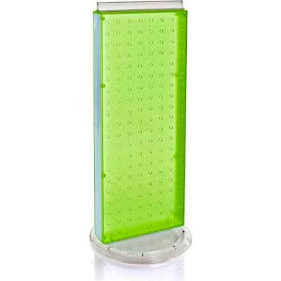 "Azar Displays 700508-GRE Revolving Pegboard Countertop Display Unit, 8"" x 20"", Green ,1 Piece"