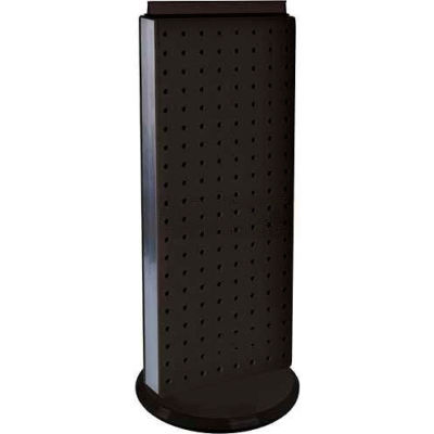 "Azar Displays 700509-BLK Two-Sided Non-Revolving Pegboard Countertop Display, 8"" x 20"", Black"