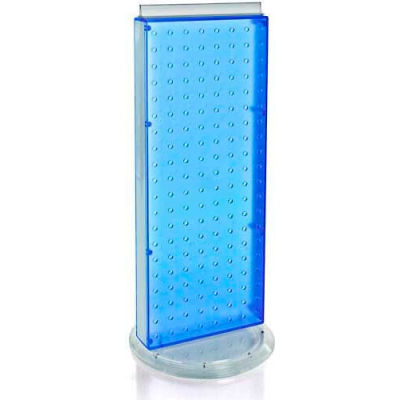 """Azar Displays 700509-BLU Two-Sided Non-Revolving Pegboard Countertop Display, 8"""" x 20"""", Blue"""