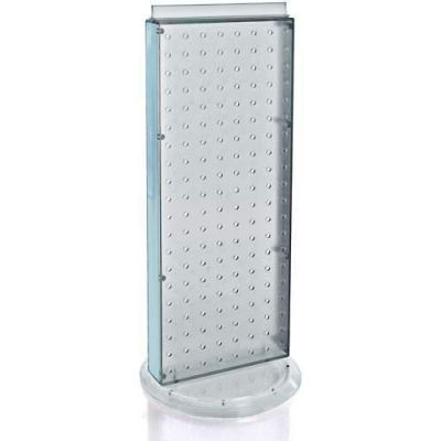 """Azar Displays 700509-CLR Two-Sided Non-Revolving Pegboard Countertop Display, 8"""" x 20"""", Clear"""