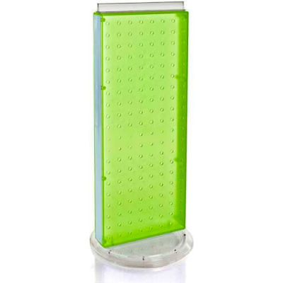 """Azar Displays 700509-GRE Two-Sided Non-Revolving Pegboard Countertop Display, 8"""" x 20"""", Green"""