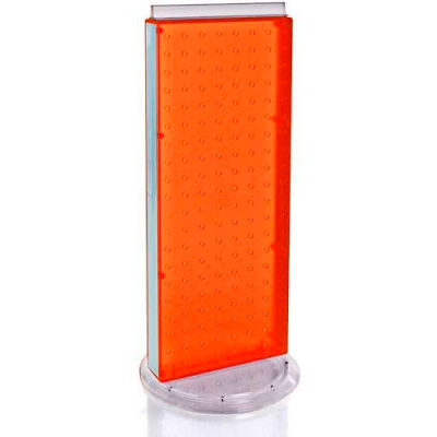 """Azar Displays 700509-ORG Two-Sided Non-Revolving Pegboard Countertop Display, 8"""" x 20"""", Orange"""