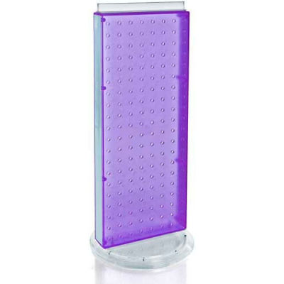 """Azar Displays 700509-PUR Two-Sided Non-Revolving Pegboard Countertop Display, 8"""" x 20"""", Purple"""