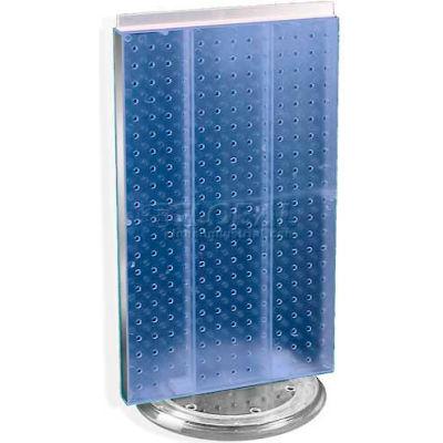 "Azar Displays 700513-BLU Two-Sided Revolving Pegboard Countertop Display, 13.5"" x 22"", Blue"