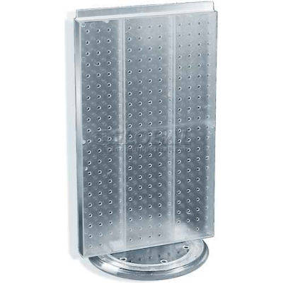 """Azar Displays 700513-CLR Two-Sided Revolving Pegboard Countertop Display, 13.5"""" x 22"""", Clear"""