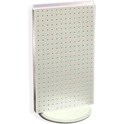 """Azar Displays 700513-WHT Two-Sided Revolving Pegboard Countertop Display, 13.5"""" x 22"""", White"""