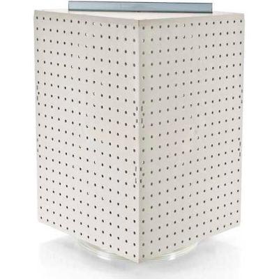 "Azar Displays 701414-WHT Interlocking Pegboard Countertop Display, 14"" x 20"", White Solid ,1 Piece"