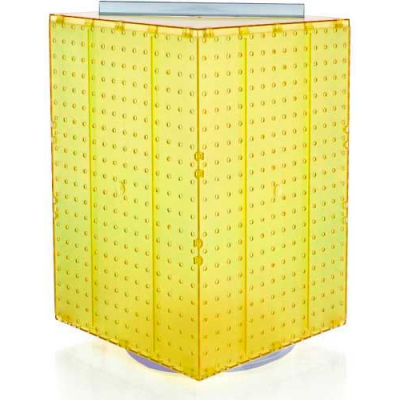 "Azar Displays 701414-YEL Interlocking Pegboard Countertop Display, 14"" x 20"", Yellow Opaque"