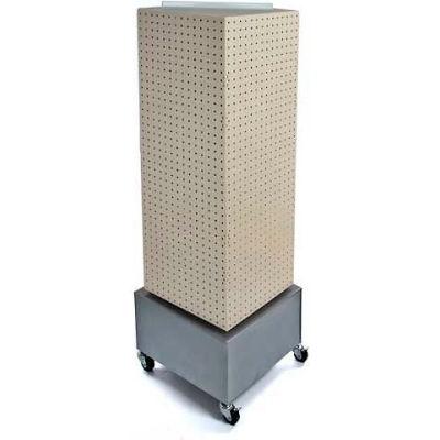 "Azar Displays 701415-ALM Interlocking Pegboard Countertop Display W/ Wheels, 14"" x 40"", Solid Almond"