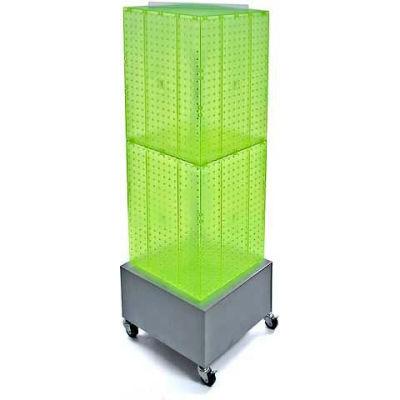 "Azar Displays 701415-GRE Interlocking Pegboard Countertop Display W/ Wheels, 14"" x 40"", Green"