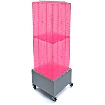 "Azar Displays 701415-PNK Interlocking Pegboard Countertop Display W/ Wheels, 14"" x 40"", Pink"