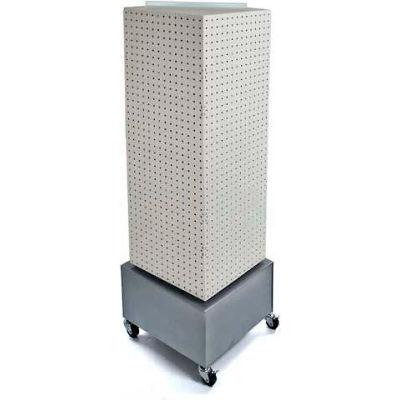 "Azar Displays 701415-WHT Interlocking Pegboard Countertop Display W/ Wheels, 14"" x 40"", White Solid"