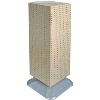 "Azar Displays 701435-ALM 4-Sided Interlocking Pegboard Floor Display, 14"" x 40"", Almond Solid"