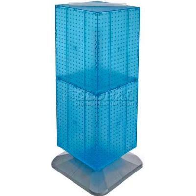 "Azar Displays 701435-BLU 4-Sided Interlocking Pegboard Floor Display, 14"" x 40"", Blue Opaque"