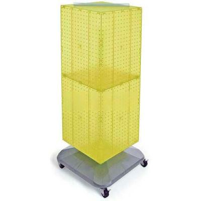 """Azar Displays 701436-YEL 4-Sided Interlocking Pegboard Floor Display, 14"""" x 40"""", Yellow Opaque"""