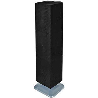 "Azar Displays 701464-BLK 4-Sided Interlocking Pegboard Floor Display, 14"" x 60"", Black Solid"