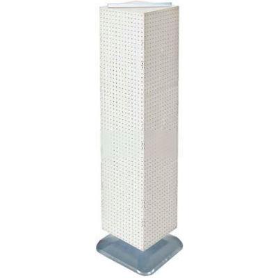 "Azar Displays 701464-WHT 4-Sided Interlocking Pegboard Floor Display, 14"" x 60"", White Opaque"