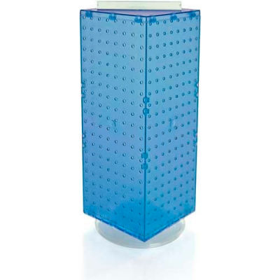 "Azar Displays 703385-BLU Interlocking Pegboard Countertop Display, 8"" x 20"", Blue ,1 Piece"