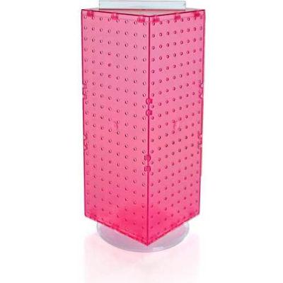 "Azar Displays 703385-PNK Interlocking Pegboard Countertop Display, 8"" x 20"", Pink ,1 Piece"