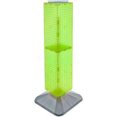 "Azar Displays 703387-GRE 4-Sided Interlocking Pegboard Display, 8"" x 40"", Green Opaque ,1 Piece"