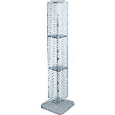 "Azar Displays 703389-CLR 4-Sided Interlocking Pegboard Display, 8"" x 60"", Clear Opaque ,1 Piece"