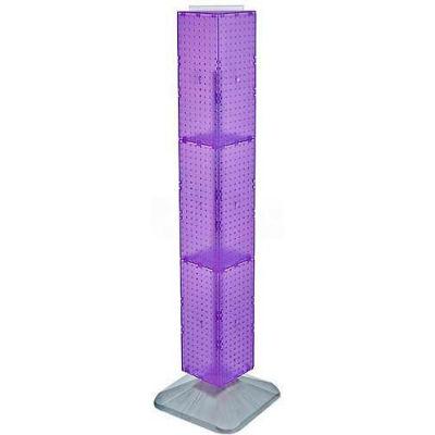 "Azar Displays 703389-PUR 4-Sided Interlocking Pegboard Display, 8"" x 60"", Purple Opaque ,1 Piece"